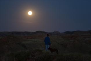 Moonrise Theodore Roosevelt National Park www.usathroughoureyes.com
