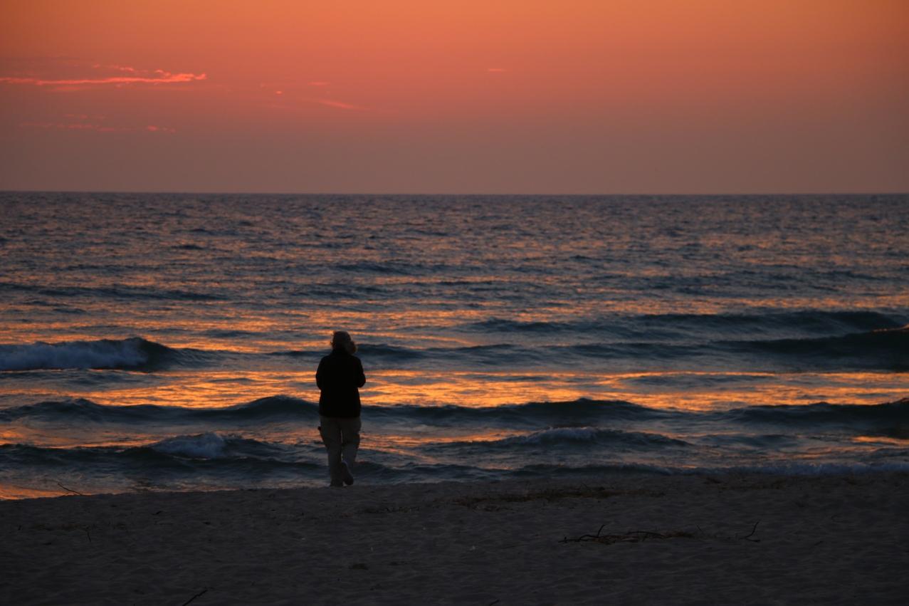 Audrey enjoys sunset