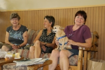 Diane, Stacey, Sunnie with Dagger