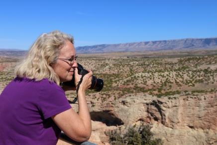 Audrey at Big Horn Canyon