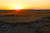 Sunset in Badlands Natl. Park