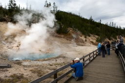 One of the many hot springs at Yellowstone National Park