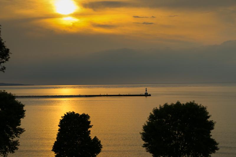 Driving along Carp Lake, MI www.usathroughoureyes.com