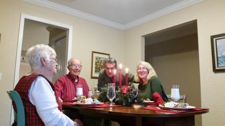Pat, Bob, Tom and Audrey Share Christmas 2016. www.usathroughoureyes.com
