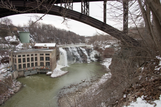 Lower and Middle Falls, Genesee River, Rochester, NY. www.usathroughoureyes.com
