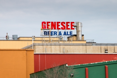 View of the famous Genesee Brewery from Pont de Rennes Bridge, Rochester, NY. www.usathroughoureyes.com