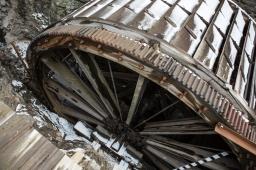 Water Wheel, High Falls, Rochester, NY. www.usathroughoureyes.com